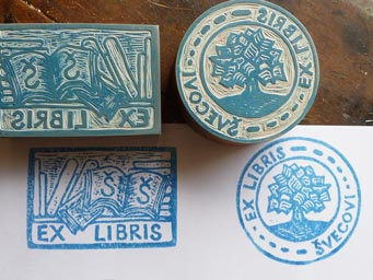 Stamps with Ex Libris