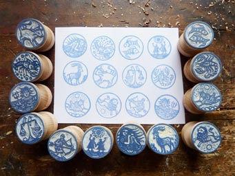 Stamps with Zodiac signs