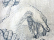 Hand study - pencil drawing