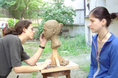 Class of portrait sculpture